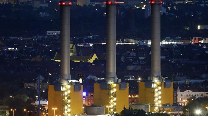 A general view shows Vattenfall's combined heat and power station Berlin-Wilmersdorf in Berlin