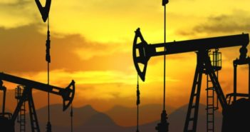 oil pumpjack in operation